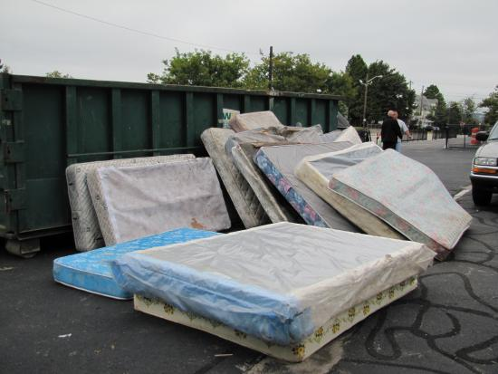 Old mattress pile Providence City Council